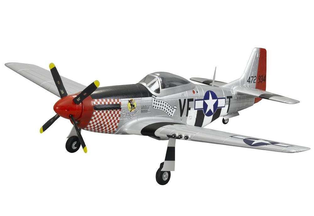 FMS Радиоуправляемый Самолет - Mustang P-51D 1400мм PnP (акк. 2600мАч, ЗУ, ретракты, флапероны, без радио)