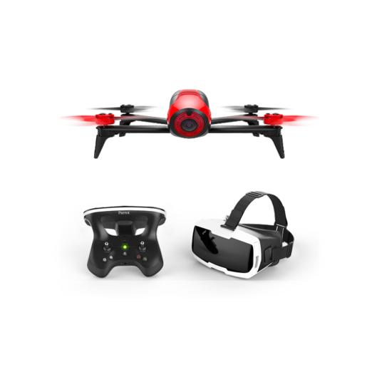 Квадрокоптер Parrot Bebop 2 FPV. Цвет красный. В комплекте: квадрокоптер Parrot Bebop 2, Skycontroller 2, VR очки Cockpitglasses.