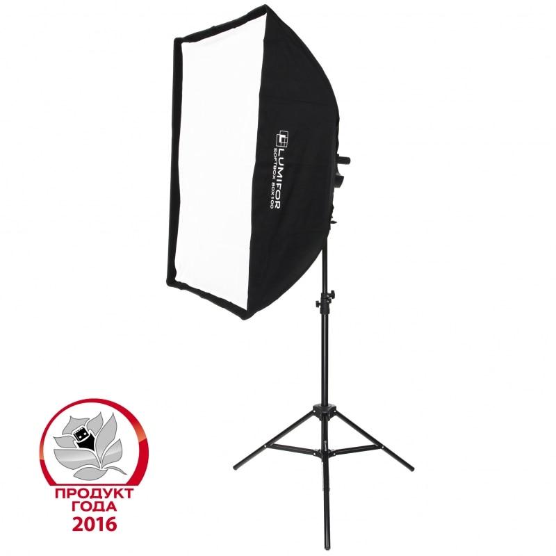 Комплект постоянного студийного света Lumifor MIRA LFL-932 SR KIT, флуоресцентный 9х32Вт, Софтбокс, Рефлектор