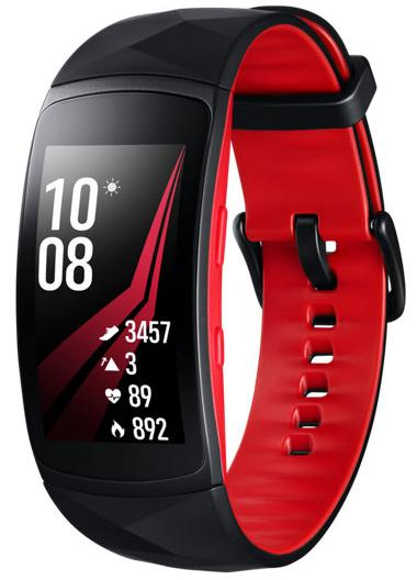 Фитнес-браслет Samsung Gear Fit 2 Pro L (Black/Red)