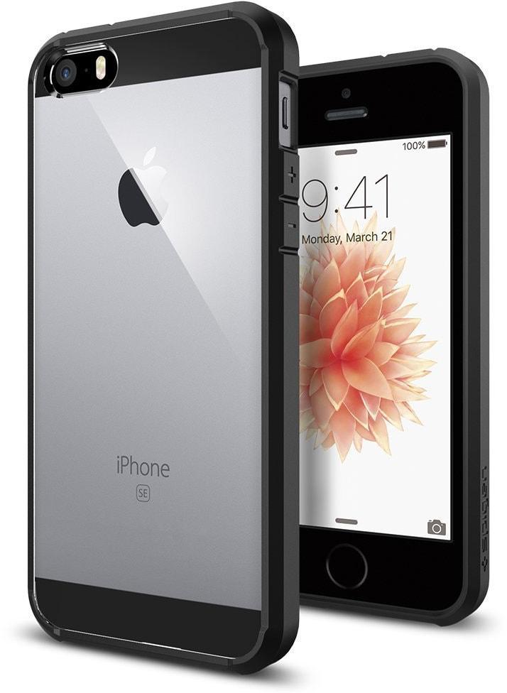 Spigen Ultra Hybrid (041CS20173) - чехол для iPhone 5/5S/SE (Black)