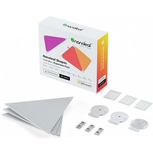 Набор дополнительных светодиодных панелей Nanoleaf Shapes Triangles без управляющего блока. В комплекте 3 шт.