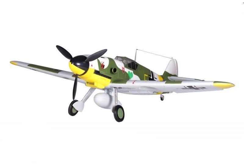 FMS Радиоуправляемый Самолет - Messersсhmitt BF109 1400мм PnP (акк. 2600мАч, ЗУ, ретракты, флапероны, без радио)