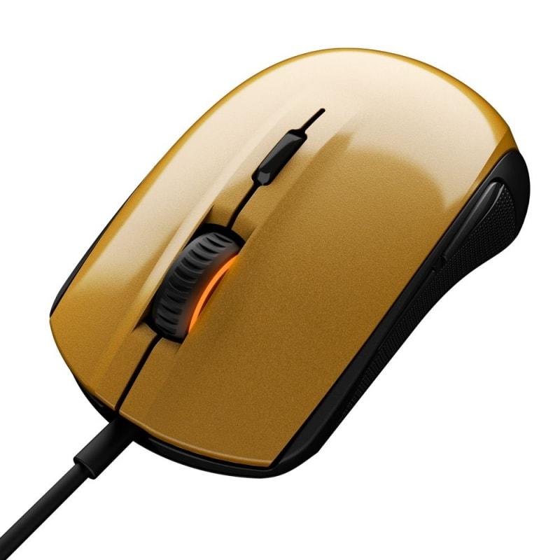 Мышь SteelSeries Rival 100 Alchemy golden/black USB (321909)