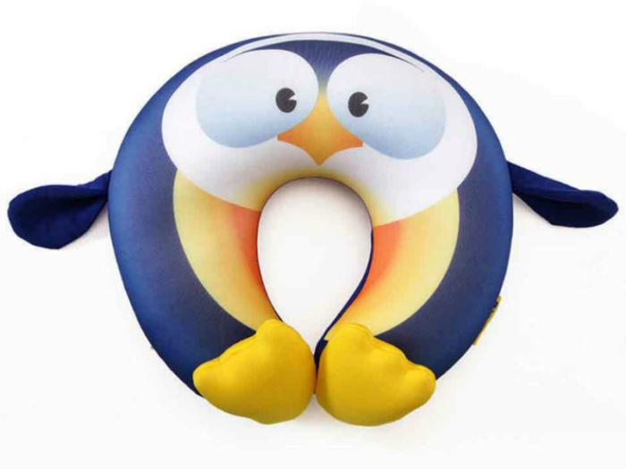 Детская подушка для путешествий Travel Blue Fun Pillow Пингвин с наполнителем из микробисера (234)