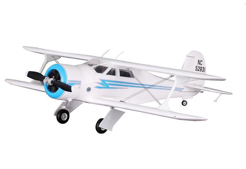 FMS Радиоуправляемый Самолет - Beechcraft 17 Staggerwing 1030мм PnP (акк. 1800мАч, ЗУ, ретракты, без радио)