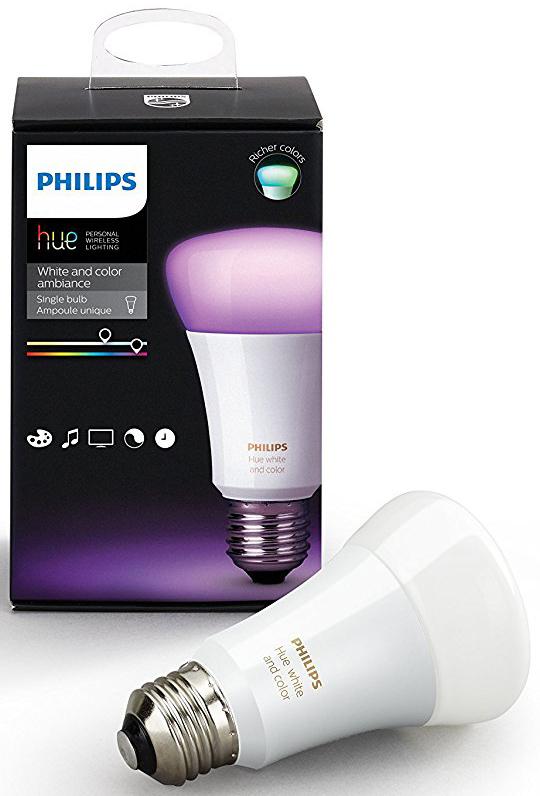 Управляемая лампа Philips Hue White and Color A19 LED Bulb 3rd Generation (White)