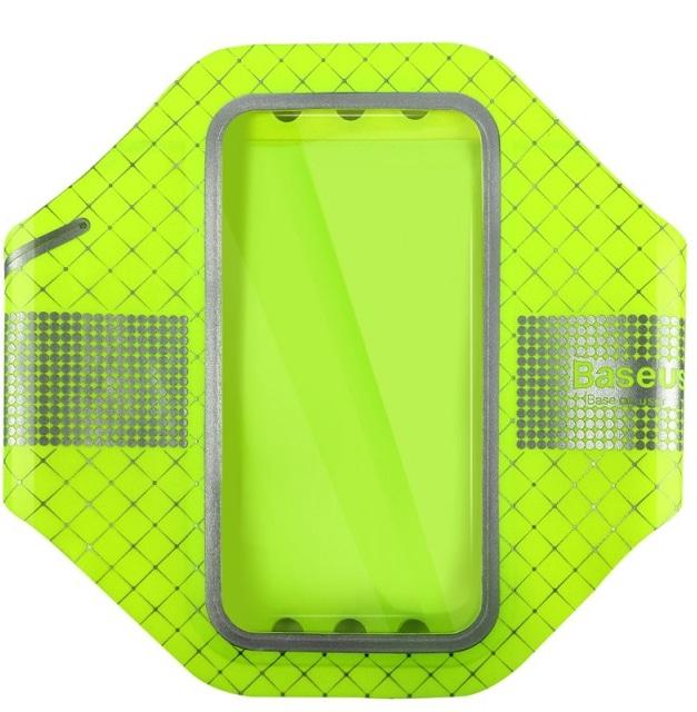 "Baseus Ultra-thin Sports Armband (AWBASEOQB-UI06) - чехол спортивный для смартфонов 4.7"" (Green)"