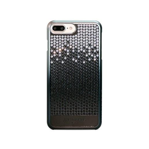Bling My Thing для iPhone 7, с кристаллами Swarovski. Серия: Vogue Cascade. Дизайн: Brilliant Onyx. Цвет: черный металлик.