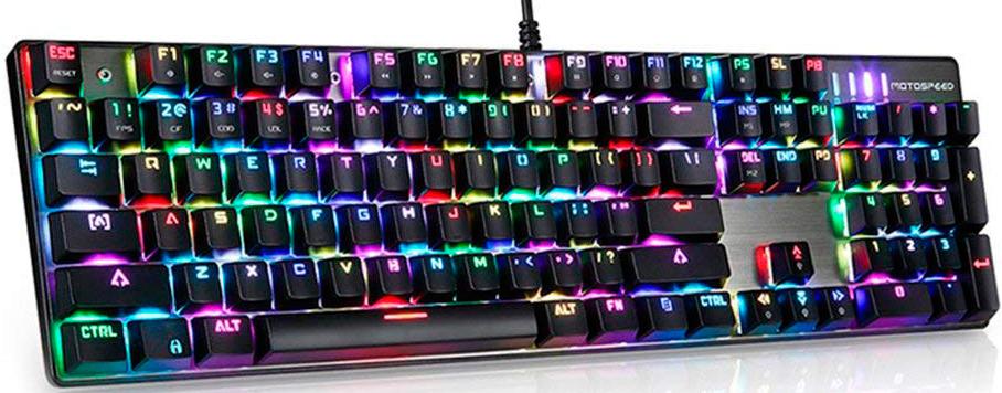 Игровая проводная клавиатура Motospeed CK104 RGB