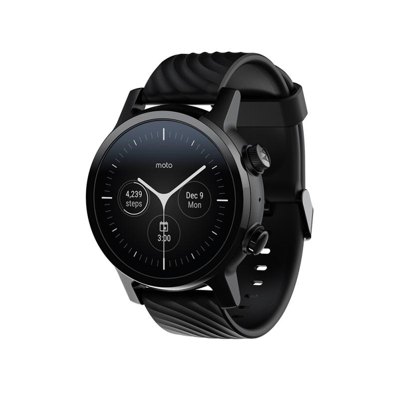 Новые умные часы Moto 360 Generation 3 (2020)-Phantom Black (уценка, вскрытая коробка)