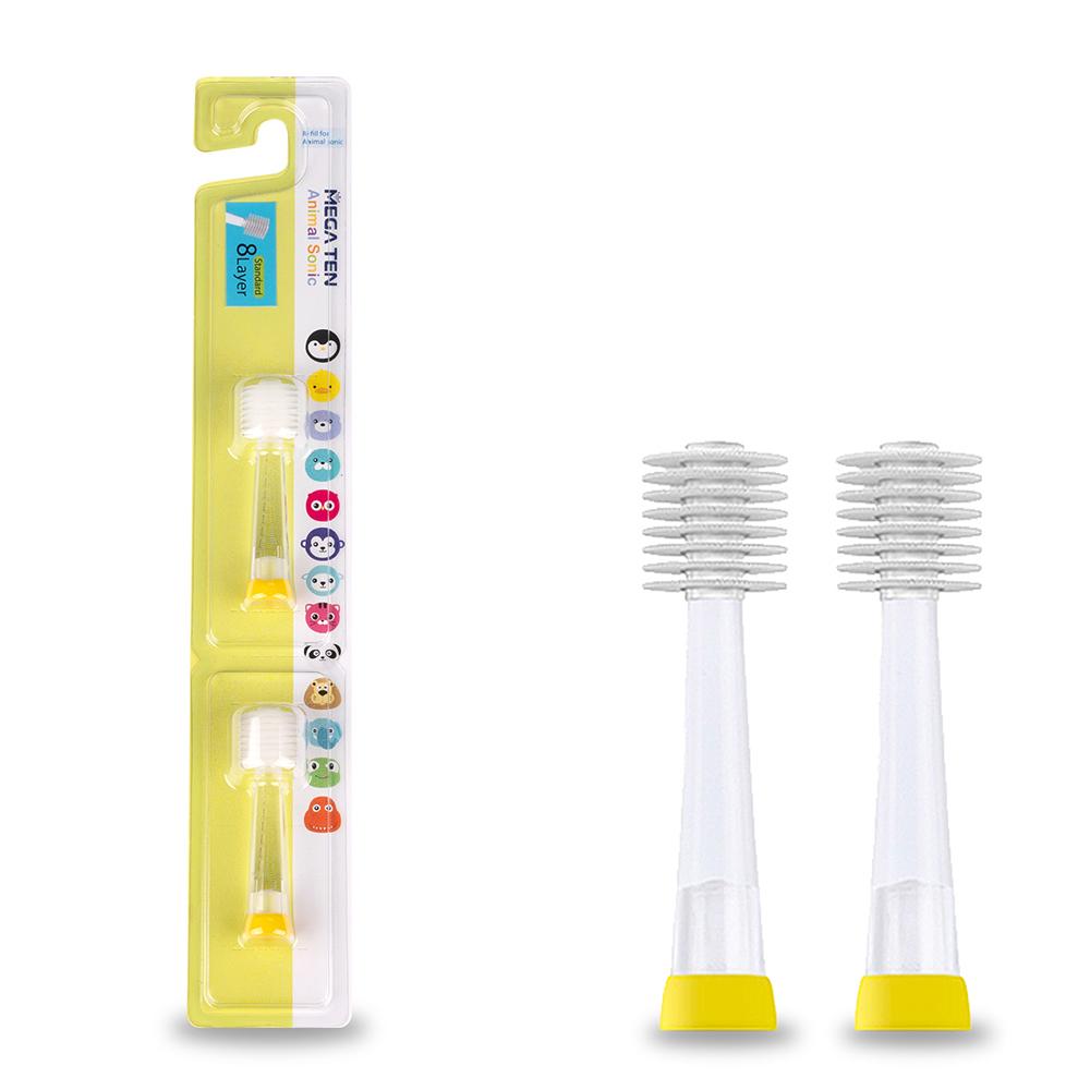 Сменные насадки для детских зубных щеток Megaten Kids Sonic