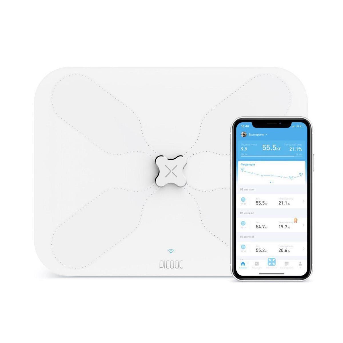 Умные весы Picooc S3 Lite (Wi-Fi, 34х26 см)