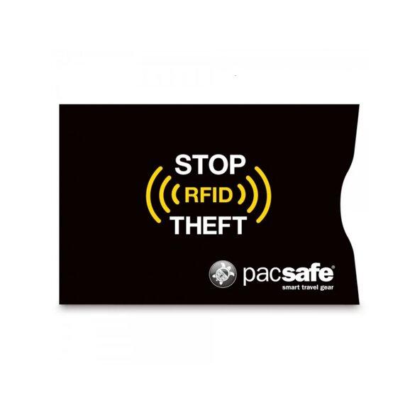 Чехол для банковских карт Pacsafe RFIDsleeve 25, черный