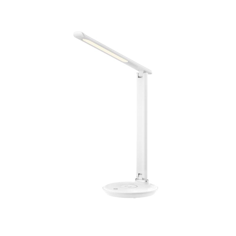 Светильник настольный с беспроводной зарядкой Rombica LED FAROS, 500Лм, 7.5 Вт, до 6000K, Qi, сенс. упр, белый