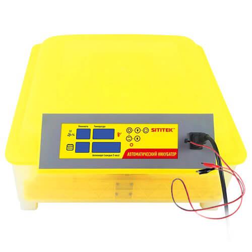 SITITEK 48 Бытовой инкубатор для 48 куриных яиц с контролем температуры, влажности и автоматическим переворотом SITITEK 48 с автономным питанием 12В