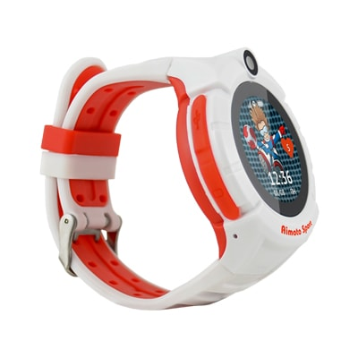 Кнопка жизни Aimoto Sport - часы-телефон с GPS и Wi-Fi (White/Red)