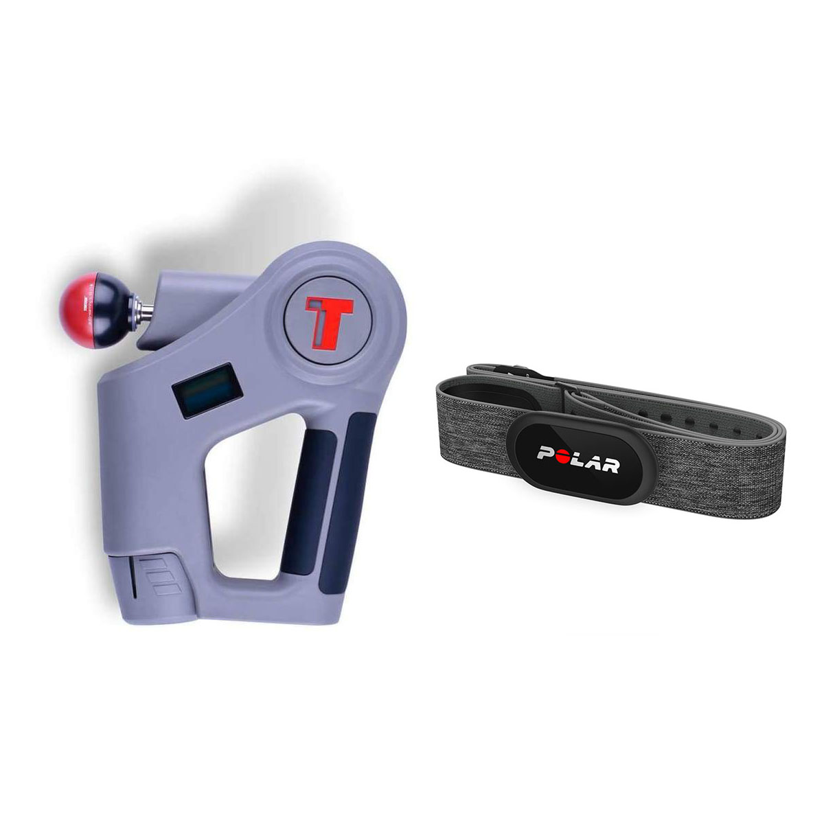 Комплект - Перкуссионный мышечный массажер TimTam Pro Power Massager + Пульсометр Polar H10 N