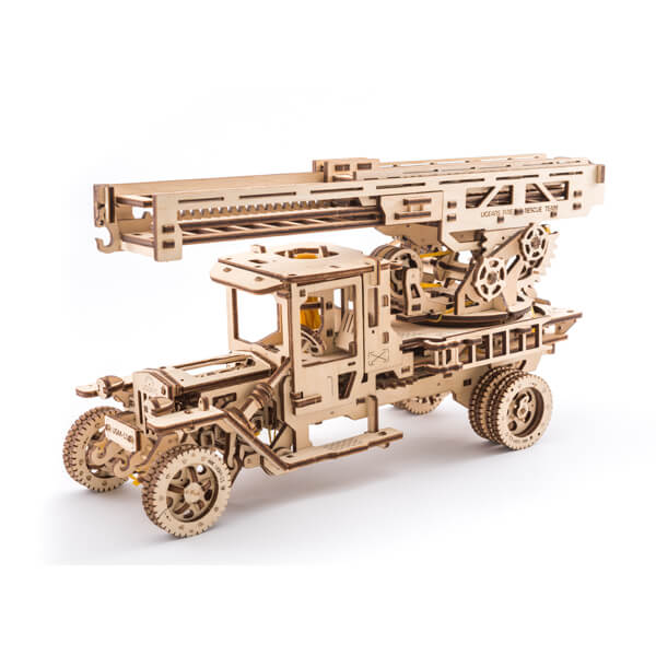 3D-пазл UGears Автомобильный кран (Mobile crane)