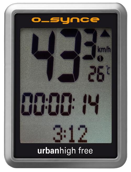 O-Synce компьютер для велосипеда URBANHIGH FREE