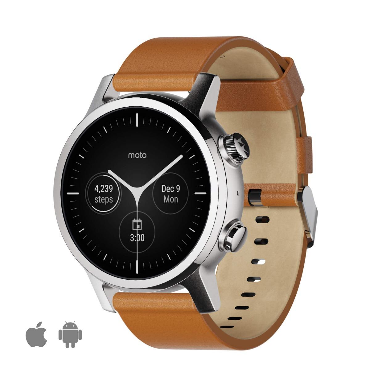 Новые умные часы Moto 360 Generation 3 (2020)-Steel Grey (уценка, вскрытая коробка)