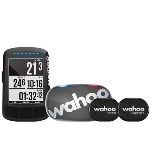 Велокомпьютер + кардио-пояс + датчики скорости и частоты вращения педалей Wahoo ELEMNT BOLT Bike Computer Bundle Black для iOS/Android устройств