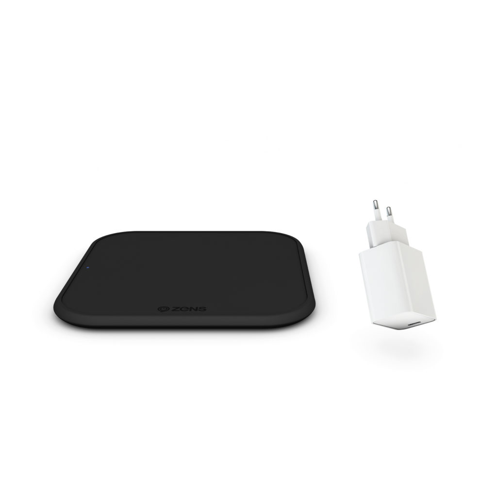 Беспроводное зарядное устройство ZENS Single Wireless Charger iPhone 12 Starterpack + USB PD 18W charger