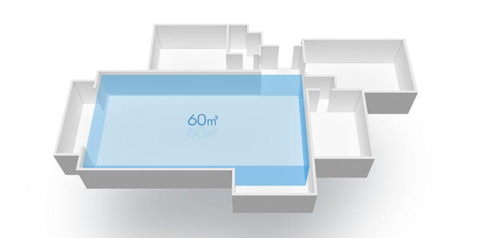 Xiaomi Mi Air Purifier Pro площадь работы