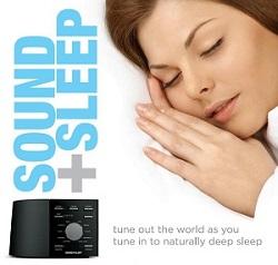 Система  Ecotones Sound + Sleep Machine ASM1002 проводит успокаивающую звуковую терапию для глубокой релаксации.