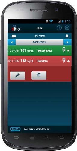 Мобильное приложение ditto Glucose Logbook Android App
