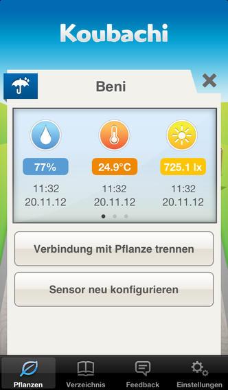 Скриншот мобильного приложения Koubachi